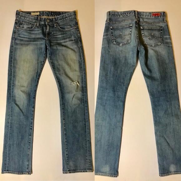 Ag Adriano Goldschmied Denim - AG Tomboy Boyfriend Fit Distressed Jeans